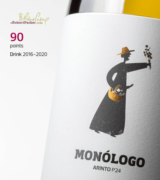 Monólogo Arinto and Singular from A&D Wines with 90 and 91 points on Robert Parker's scale
