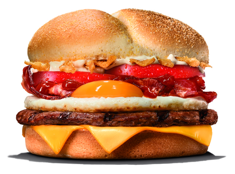 BURGER KING®PRESENTS THE KING BURGER, THEIR FIRST HAMBURGUER WITH EGG
