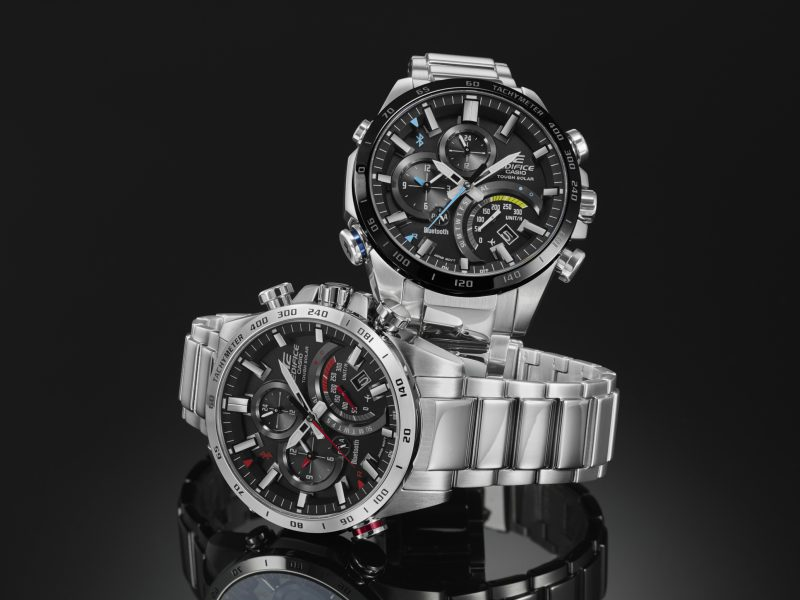 Casio launchs EDIFICE that automatically connect to smarthpones to ensure the right time anywhere in the world