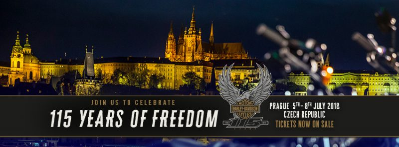 Harley-Davidson® celebrates its 115th anniversary in Prague